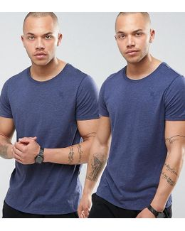 Raw T-shirt In 2 Pack Navy