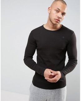 Raw Long Sleeve Top In Black