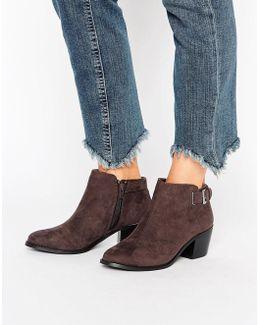 Buckle Heel Boot