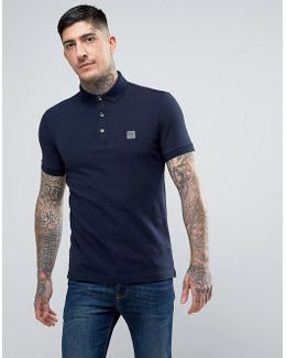 By Hugo Boss Slim Fit Polo Shirt In Navy