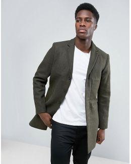 Wool Mix Overcoat