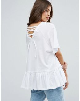 Oversized Swing Top With Cross Back