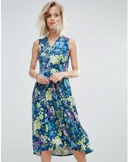 Floral Print Midi Summer Skater Dress