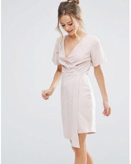 V Front Wrap Dress