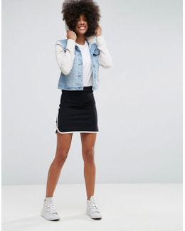Mini Skirt With Contrast Sports Binding