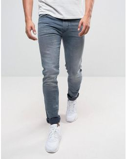 Jondrill Skinny Stretch Jeans Grey Wash