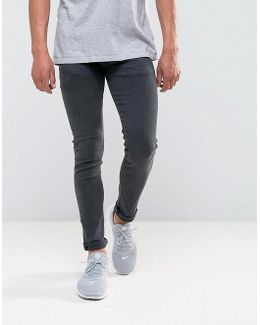Jondrill Skinny Power Stretch Jeans Washed Black