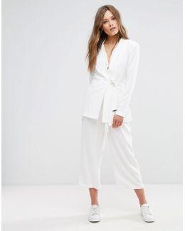 Tie Front Culotte Pants