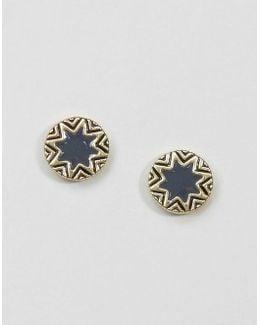 Star Burst Stud Earrings