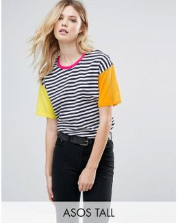 Top In Cutabout Color Block Stripe