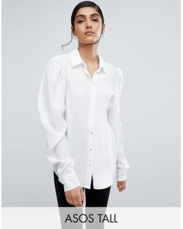 Blouse With Exaggerated Sleeve