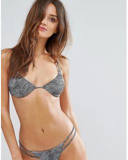 Hi Tide Print Triangle Bikini Top