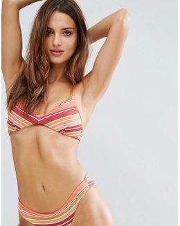 Rainbow Stripe Bikini Bralette Top