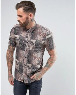 Regular Fit Shirt With Vintage Print