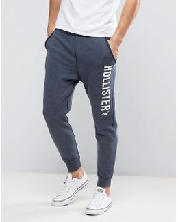 Slim Fit Cuffed Jogger Burnout In Navy