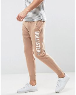 Slim Fit Cuffed Jogger In Tan
