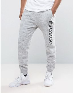 Slim Fit Cuffed Jogger In Grey Marl