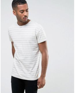T-shirt In Oversized Fit With Stripe Organic Cotton