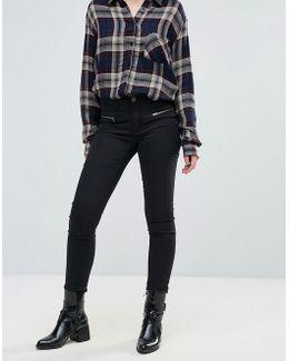 Skinny Jean With Zip Detail