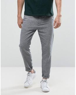 Trouser In Linen Mix Tapered Fit