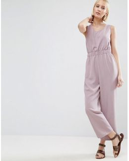 Minimal Jumpsuit With Waist Detail