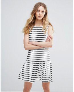 Striped Drop Hem Dress