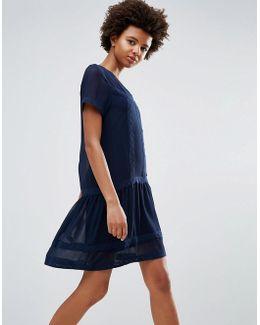 Peplum Shift Dress