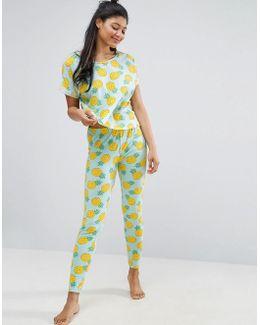 Pineapple Rings Tee & Legging Pyjama Set