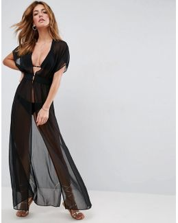 Grecian Maxi Beach Cover Up