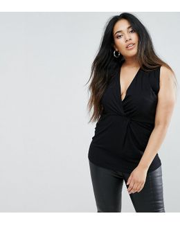 Longline Top With Twist Front
