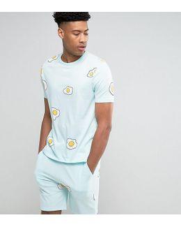 Tall Pajama Set With Egg Print