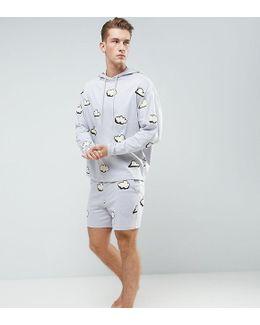 Pyjama Set In Cloud Print