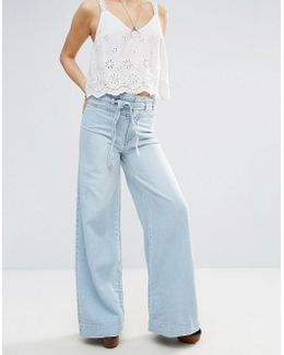 Augusta Wide Leg Belted Jeans