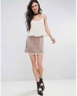 Wild Child Sequined Skirt