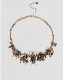 Embellished Bug Necklace