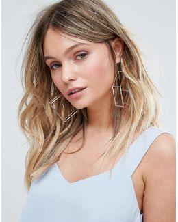 Open Square Hoop Earrings