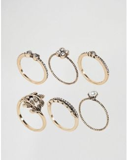 Jewelled Stacking Rings