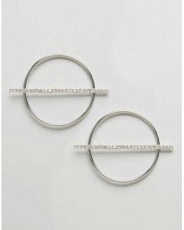 Cutout Circle Earrings