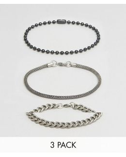 Bracelet Pack With Mixed Chains