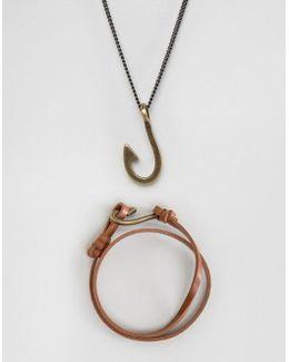 Necklace And Bracelet Set With Hook Design