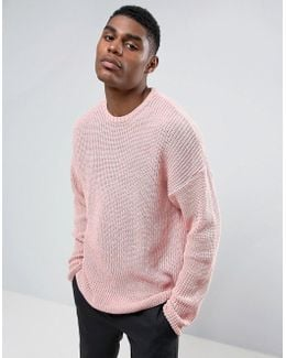 Slouchy Sweater In Pink