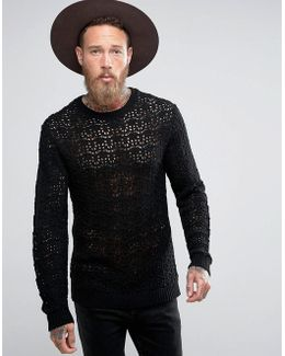 Crochet Jumper In Black