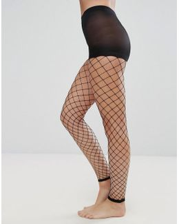 Oversized Footless Fishnet Tights