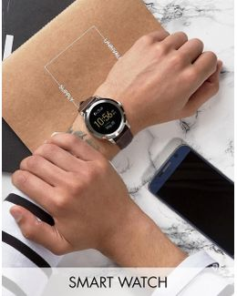 Q Ftw2119 Founder Leather Smart Watch In Brown