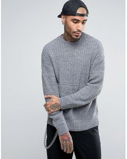 Ultimate Textured Sweater In Gray