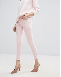 Cropped Pastel Skinny Jeans