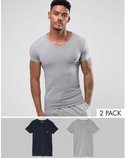 2 Pack V Neck T-shirt