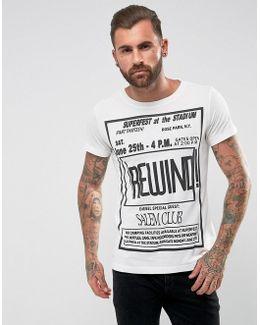 T-diego-dc-qe Rewind Print T-shirt