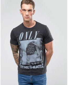T-joe-qe Only Print T-shirt
