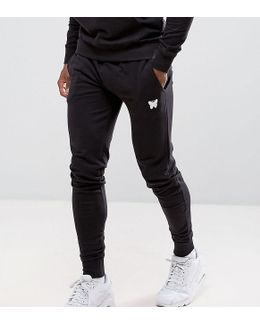 Skinny Joggers In Black With Small Logo